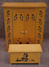 Vintage Doll French Miniature Bedroom Armoire Wardrobe Toys trunk