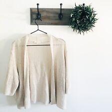 Eileen Fisher Tan Knit Cardigan XL