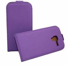 Premium Flip Case Tasche in lila für Samsung i8160 Galaxy Ace 2 Etui Hülle Cover