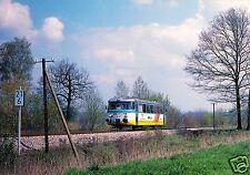 AK, VT 2.01 der Karsdorfer Eisenbahngesellschaft zw. Pfaffenhain u. Niederndorf