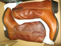 Double-H Work and Western Cowboy Boots Metro Ladies/Womens Leather 9.5 DH5184