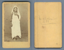 Egypte, Femme égyptienne  CDV vintage albumen. Tirage albuminé  6,5x10,5