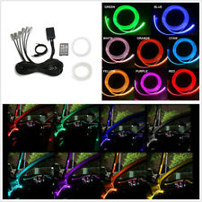 12V RGB LED Atmosphere Neon Lights 8m Optical Fiber Sound Active Remote Control