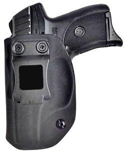 Black Jacket Holster: Ruger EC9s, LC9, LC9s Inside Waistband IWB Gun Holster EDC