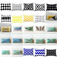Rectangle Pillows Case Throw Pillow Cushions Cover Home Decor Geometric Cushion