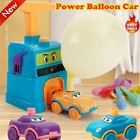 Fun Inertia Balloon Powered Car Toys Aerodynamics Inertial Power Kids Gifts