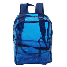 Large Clear Transparent Backpack Stadium Security TSA School Book Bag Travel
