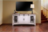 Rustic Solid Wood 70 inch wide TV stand Media Center / Sideboard with 4 doors