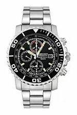 Seiko Armbanduhren mit Edelstahl-Armband und Chronograph