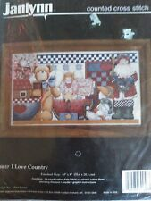 I Love Country Counted Cross Stitch Kit Janlynn