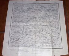 Cartina geografica mappa militare military map 1932 TARVISIO 1:100000
