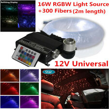 Car SUV LED Ceiling Light Fiber Optic Star Kit RGBW Lamp Source+300x Fiber Cable