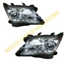 Front A Pair LED HeadLamps Lamp Light Chrome Housing K For Lexus LX570 2012-2015