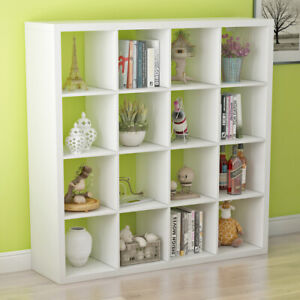 16 Cube Wood Shelving Storage Organiser Closet Cupboard Toys Books Bookcase