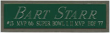BART STARR NAMEPLATE for AUTOGRAPHED Signed FOOTBALL-HELMET-JERSEY-PHOTO CASE