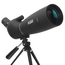 Zoom 25-75X70 Angled Astronomy Spotting Scope Bak7 Lens Waterproof With Tripod