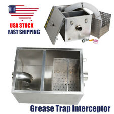 �Usa】360×260×235mm Stainless Steel Grease Trap Interceptor Restaurant Wastewater
