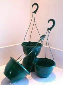 5 X 27cm diameter Teku plastic Hanging Pots / Baskets / Hanging Flowerpots