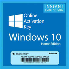 WINDOWS 10 HOME 32/64 BITS GENUINE ONLINE ACTIVATION KEY INSTANT DELIVERY 5 Secs