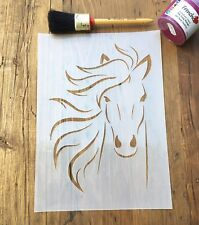 Horse Lover Stencil, Horses Head, Pony Lover, wall, furniture, floor stencil