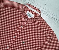 BEAUTIFUL LACOSTE DEVANLAY RED SHIRT SIZE L LARGE SLIM FIT