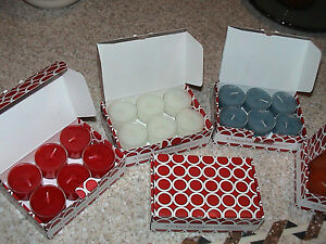 GOLD CANYON SET of 12 TEALIGHTS NEW Scents
