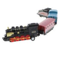 Black Vintage Steam Train Set Pull Back Locomotive Kids Toy Party Favor Gift