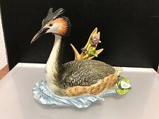 Goebel Figur Vogel D. Jahres 2001 Haubentaucher 14,5 cm. Erste Wahl. Top Zustand