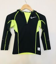 NWT! $45  Nike Pro Combat Dri-Fit Hyperwarm HOODIE Boys Size 6-7 SUPER HOT SWAG!