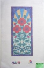 Landmark Needlepoint canvas Long Poppy 14 count interlock poppies floral