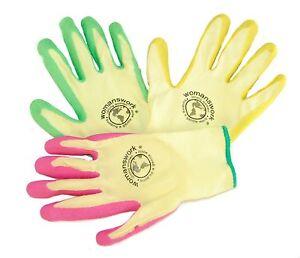 Womanswork 440 Weeder Garden Gloves 3-pack Womens Sizes S,M,L Gardening Weeding