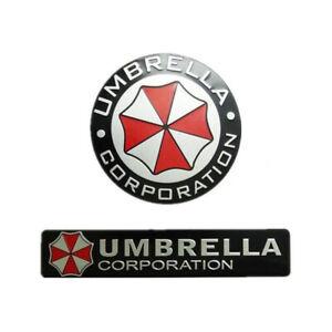 Metal 3D Resident evil Umbrella Corporation Car Badge Emblem Auto Sticker Decal