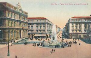 NAPOLI – Piazza della Borsa e Corso Umberto I – Naples – Italy