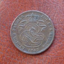 Belgium 1849 copper 2 centimes