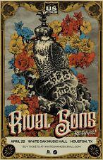 "RIVAL SONS / REIGNWOLF ""U.S. TOUR"" 2020 HOUSTON CONCERT POSTER- Blues Rock Music"