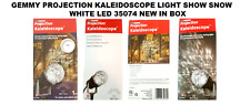 GEMMY PROJECTION KALEIDOSCOPE LIGHT SHOW SNOW WHITE LED 35074 NEW IN BOX