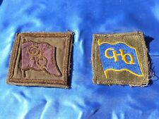 WW2 Orig TWO G.H.Q PACIFIC COMMAND SHOULDER PATCHES One Embroidered THEATER MADE