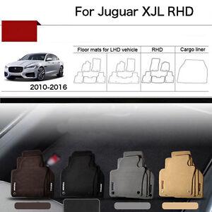 "Full Set 1/2""Thick Solid Nylon Interior Floor Carpet Mats For RHD Jaguar XJL 10+"