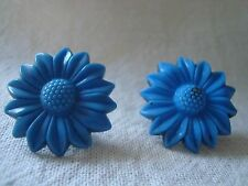 Vintage Blue Flower Celluloid  Push Pin~Bulletin/Mood Boards /Craft Room/Office