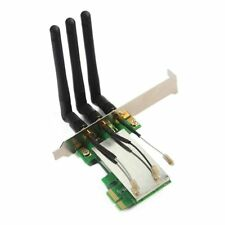 New Mini PCI-E to PCI-E Express X1 Wireless WIFI adapter card with 3 Antennas BT