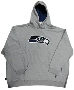 Seattle Seahawks NFL Mens Gray Pullover Hoodie Big & Tall Sizes