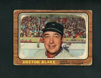 1966 Topps # 1 Toe Blake Fair condition Montreal Canadiens