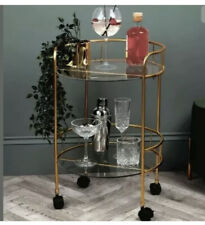 Home Collections 2 Tier Round Drinks Trolley 60cm