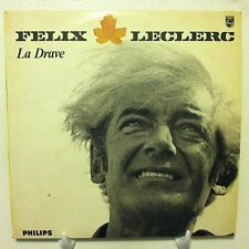 FELIX LECLERC La Drave LP 1964 Philips Original Press FRENCH CHANSON VG+ france