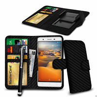 Clip On PU Leather Wallet Case Cover & Pen For Microsoft Lumia 950 XL Dual SIM