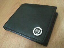 Jaguar wallet chrome metal badge genuine leather bi-fold uk seller xk xj xf