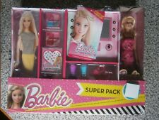 Barbie Dreamhouse Doll Case with Barbie Doll, Kids Makeup Case & Accessories NEW