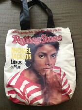 Vtg MICHAEL JACKSON Tote Bag ROLLING STONE Shirt Jacket Tour CD Beat It Thriller