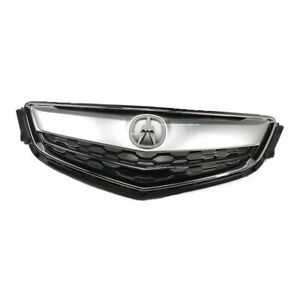Bumper Grille For 2015 Acura TLX Set of 2 Left /& Right Paint to Match Plastic
