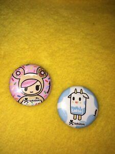 2 Tokidoki Pins-Latte And Donutella